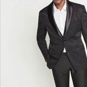 Men's Jacquard Tuxedo Blazer Zara